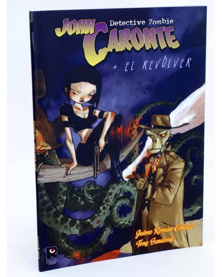 Cubierta de JOHN CARONTE DETECTIVE ZOMBIE + REVOLVER (Román Collado / Sandoval) Recerca 2005