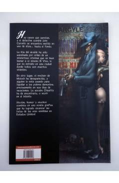 Contracubierta de JOHN CARONTE DETECTIVE ZOMBIE + REVOLVER (Román Collado / Sandoval) Recerca 2005