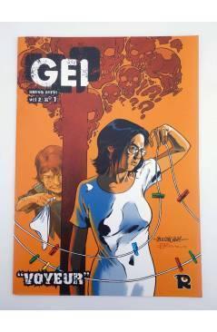 Contracubierta de GEI DEBUT / VOYEUR (Xavier Morell / Félix Ruiz / Victor Santos) Recerca 2004