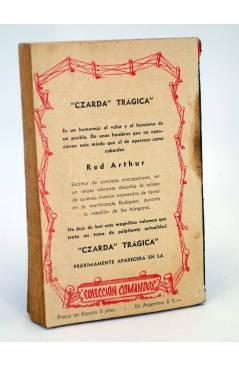 Contracubierta de COLECCIÓN COMANDOS 208. EL DESTINO DE HAL NEWPORT (Alan Kesington) Valenciana 1950