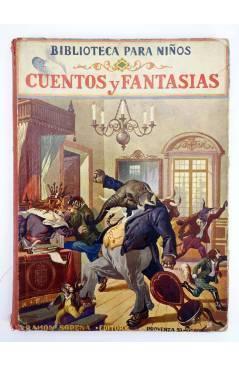 Contracubierta de BIBLIOTECA PARA NIÑOS CUENTOS Y FANTASIAS. CON 37 GRABADOS (No Acreditado) Ramón Sopena 1928