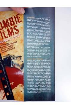 Contracubierta de ZOMBIE FILMS 1. EUROPA (Pueyo Díaz Maroto Vegas Garrido Perez) Dolmen 2011