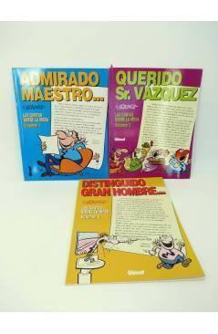 Cubierta de LAS CARTAS SOBRE LA MESA 1 A 3. COMPLETA (By Manuel Vázquez) Glenat 1997