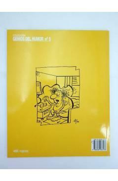 Contracubierta de GENIOS DEL HUMOR 5. DISTINGUIDO GRAN HOMBRE. CARTAS SOBRE LA MESA 3 (By Manuel Vázquez) Glenat 1997