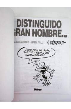 Muestra 1 de GENIOS DEL HUMOR 5. DISTINGUIDO GRAN HOMBRE. CARTAS SOBRE LA MESA 3 (By Manuel Vázquez) Glenat 1997