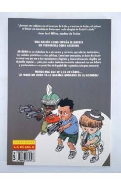 Contracubierta de ARSESINO DE TERRORISTA A REY DE ESPAÑA (Hernán Migoya / Rebollo) La Cúpula 2005