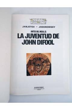 Muestra 1 de ANTES DEL INCAL I. LA JUVENTUD DE JOHN DIFOOL (Jodorowsky / Janjetov) Eurocomic 1990