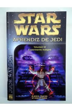 Contracubierta de STAR WARS APRENDIZ DE JEDI 12. EXPERIMIENTO MALIGNO (Jude Watson) Alberto Santos 2003