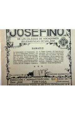 Contracubierta de REVISTA CORREO INTERIOR JOSEFINO 322. COLEGIOS DE SAN JOSÉ. DICIEMBRE (Mosen Sol) Colegio de San José