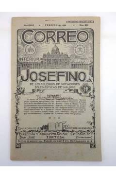 Cubierta de REVISTA CORREO INTERIOR JOSEFINO 324. COLEGIOS DE SAN JOSÉ. FEBRERO (Mosen Sol) Colegio de San José 1924
