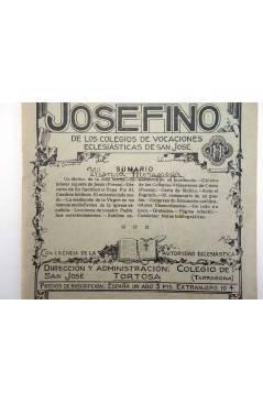 Contracubierta de REVISTA CORREO INTERIOR JOSEFINO 324. COLEGIOS DE SAN JOSÉ. FEBRERO (Mosen Sol) Colegio de San José 19