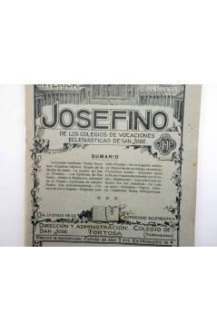 Contracubierta de REVISTA CORREO INTERIOR JOSEFINO 325. COLEGIOS DE SAN JOSÉ. MARZO (Mosen Sol) Colegio de San José 1924
