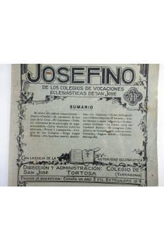 Contracubierta de REVISTA CORREO INTERIOR JOSEFINO 353. COLEGIOS DE SAN JOSÉ. JULIO (Mosen Sol) Colegio de San José 1926