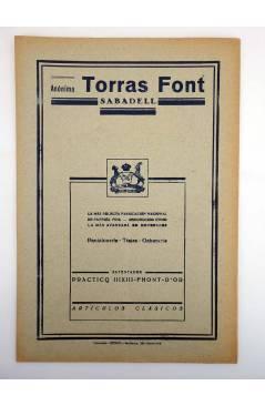 Contracubierta de BOLETÍN DE LA CONFEDERACIÓN REGIONAL DE LA SASTRERÍA DE CATALUÑA 29. MASONERÍA. MAYO 1934. MODA (Vvaa)