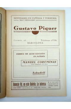Muestra 1 de BOLETÍN DE LA CONFEDERACIÓN REGIONAL DE LA SASTRERÍA DE CATALUÑA 29. MASONERÍA. MAYO 1934. MODA (Vvaa) 1934