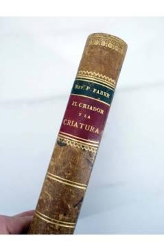 Contracubierta de EL CRIADOR Y LA CRIATURA O LAS MARAVILLAS DEL AMOR DIVINO (F. Guillermo Faber) Leocadio López 1882
