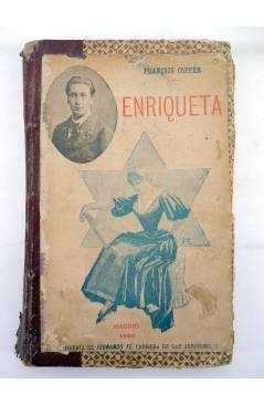 Contracubierta de ENRIQUETA (Fraçois Coppee) Fernando Fe 1890