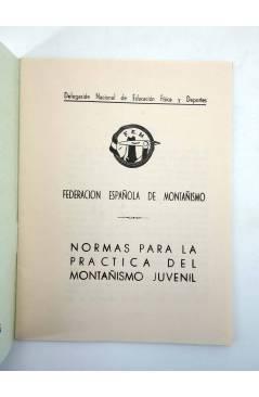 Contracubierta de FEDERACIÓN ESPAÑOLA DE MONTAÑISMO FEM. NORMAS PARA LA PRÁCTICA DEL MONTAÑISMO JUVENIL 1973 (Vvaa) 1973