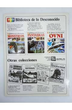 Contracubierta de BIBLIOTECA DE LO DESCONOCIDO 2. TODO SOBRE FANTASMAS (Vvaa) Plesa 1981