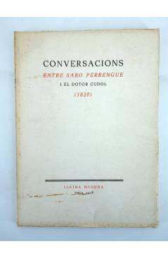 Contracubierta de LLETRA MENUDA 11. CONVERSACIONS ENTRE SARO PERRENGUE I EL DOTOR CUDOL 1820 (No Acreditado) Curial 1976