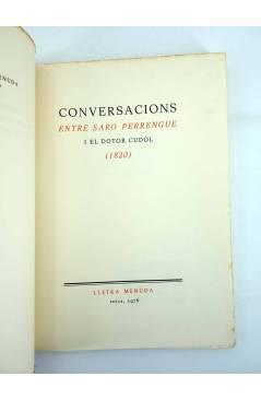 Muestra 2 de LLETRA MENUDA 11. CONVERSACIONS ENTRE SARO PERRENGUE I EL DOTOR CUDOL 1820 (No Acreditado) Curial 1976