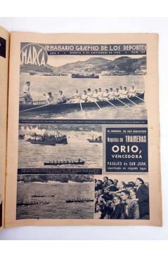 Contracubierta de MARCA SEMANARIO GRÁFICO DE LOS DEPORTES 187. EL EQUIPO FEMENINO DE CASTILLA. 8 SEPT 1942 (Vvaa) Marca