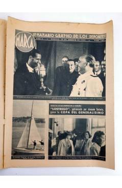 Contracubierta de MARCA SEMANARIO GRÁFICO DE LOS DEPORTES 184. LOSTREGO GANA LA COPA DEL GENERALÍSIMO. 18 AGO 1942 (Vvaa