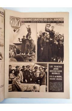 Contracubierta de MARCA SEMANARIO GRÁFICO DE LOS DEPORTES 168. ADRID VENCEDOR. 28 ABRIL 1942 (Vvaa) Marca 1942