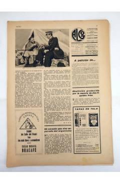 Contracubierta de REVISTA ALGO. ILUSTRACIÓN POPULAR 195. CUBIERTA E. FREIXAS. 6 MAYO (Vvaa) Algo 1933