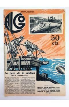 Cubierta de REVISTA ALGO. SEMANARIO ENCICLOPÉDICO 184. CUBIERTA FEMENÍA. 18 FEBRERO (Vvaa) Algo 1933