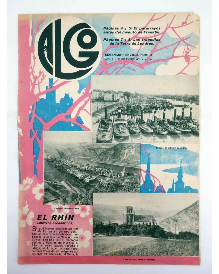 Cubierta de REVISTA ALGO. SEMANARIO ENCICLOPÉDICO 181. 28 DE ENERO (Vvaa) Algo 1933