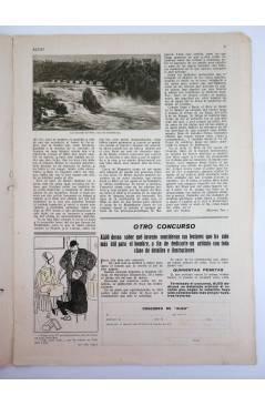 Contracubierta de REVISTA ALGO. SEMANARIO ENCICLOPÉDICO 181. 28 DE ENERO (Vvaa) Algo 1933