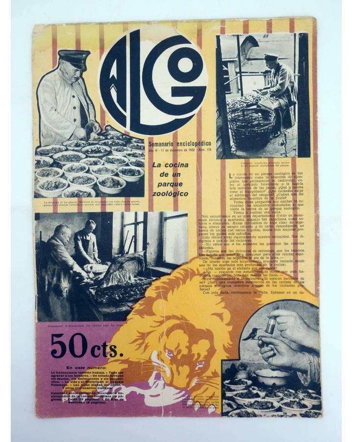 Cubierta de REVISTA ALGO. SEMANARIO ENCICLOPÉDICO 175. 17 DE DICIEMBRE (Vvaa) Algo 1932