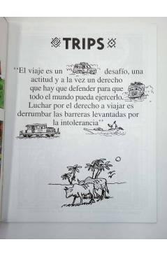 Contracubierta de EL PREGONERO 27. TRIPS. EL MUNDO ESTÁ AHÍ (Pelut) El Pregonero 1996