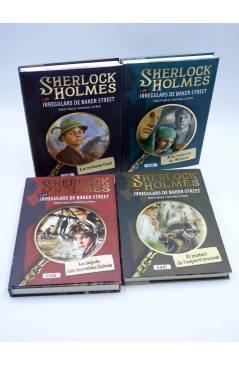 Cubierta de SHERLOCK HOLMES I ELS IRREGULARS DE BAKER STREET 1 A 4 COMPLETA (Mack / Citrin) Cadí 2009