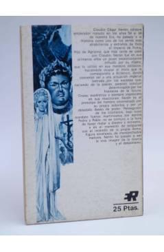 Contracubierta de GALERÍA SINIESTRA 26. NERÓN ENTRE LA PASIÓN Y LA LOCURA (Theo Campanella) Rollán 1973
