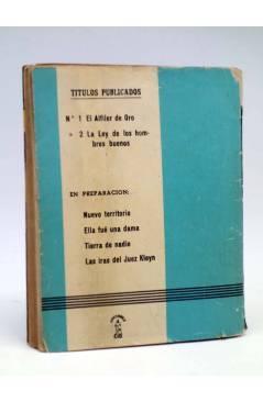 Contracubierta de DOS HOMBRES BUENOS 2. LA LEY DE LOS HOMBRES BUENOS (José Mallorquí) Cid 1955