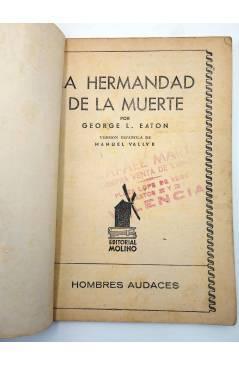 Muestra 1 de HOMBRES AUDACES 120. BILL BARNES 31 LA HERMANDAD DE LA MUERTE (George L. Eaton) Molino 1946