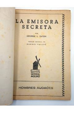 Muestra 1 de HOMBRES AUDACES 148. BILL BARNES 38 LA EMISORA SECRETA (George L. Eaton) Molino 1947