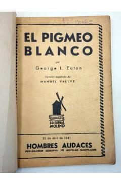 Muestra 1 de HOMBRES AUDACES ARGENTINA 124. BILL BARNES 32 EL PIGMEO BLANCO (George L. Eaton) Molino 1941