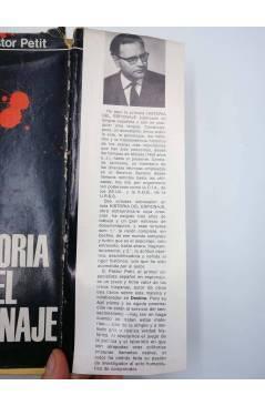 Contracubierta de HISTORIA DEL ESPIONAJE (D. Pastor Petit) Delos 1967
