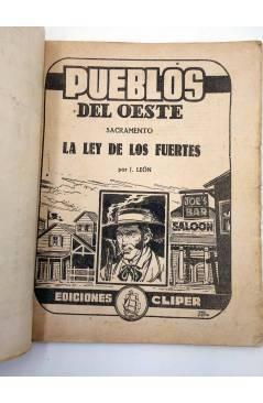 Muestra 1 de PUEBLOS DEL OESTE 10. SACRAMENTO: LA LEY DE LOS FUERTES (J. León) Cliper 1949