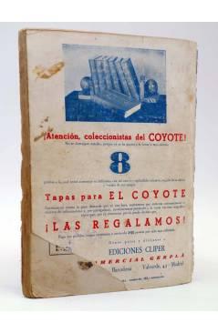 Contracubierta de EL COYOTE 36. La roca de los Muertos (José Malloquí) Cliper 1946