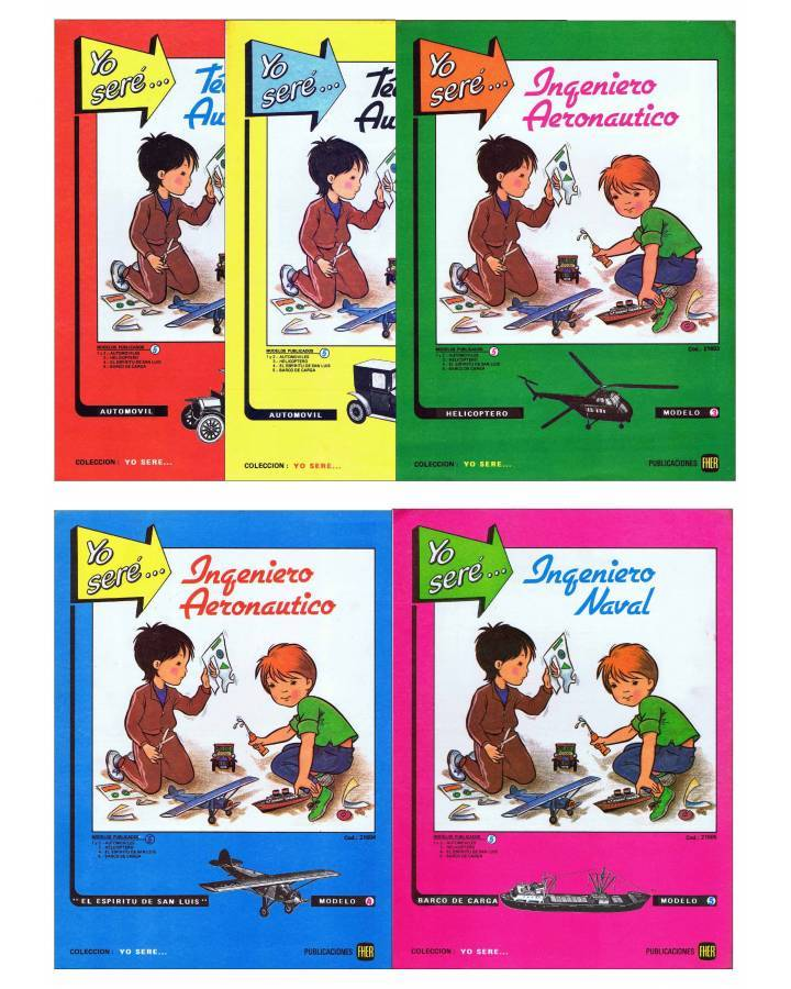 Cubierta de RECORTABLES YO SERE… 1 A 5. COMPLETA 5 NÚMEROS (No Acreditado) Fher 1986