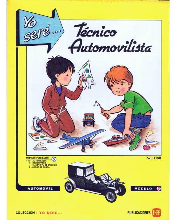 Cubierta de RECORTABLES YO SERE… 2. TÉCNICO AUTOMOVILISTA IO. AUTOMÓVIL (No Acreditado) Fher 1986