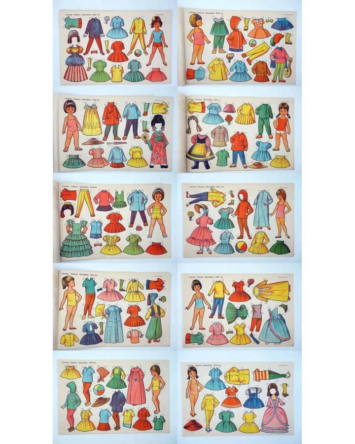 Cubierta de LÁMINAS MUÑECAS RECORTABLES EVA 951 A 960. COMPLETA (No Acreditado) Vasco Americana 1962