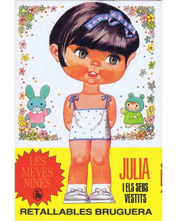 Cubierta de RECORTABLES MUÑECAS LES MEVES NINES. JULIA I ELS SEUS VESTITS (Manuel Brea) Bruguera 1986