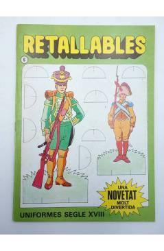 Cubierta de RECORTABLES RETALLABLES UNA NOVETAT MOLT DIVERTIDA 6. UNIFORMES SEGLE XVIII (No Acreditado) Bruguera 1984