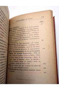 Muestra 3 de MANUALES SOLER XLVIII 48. OPERACIONES DE BOLSA (Marcos Jesús Bertrán) Manuel Soler 1900