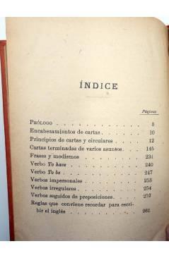 Contracubierta de MANUALES SOLER LIII 53. CORRESPONDENCIA COMERCIAL INGLÉS ESPAÑOL (J. Meca Tudela) Manuel Soler 1900